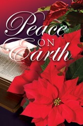 Peace on Earth Christmas Poinsettia Bulletins (Package of 50)