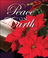 Peace on Earth, Christmas Poinsettia Bulletins, Large Size (Package of 50)
