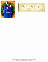 Advent Blue Letterhead (Package of 50)