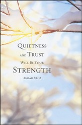 Quietness Winter Bulletins (Package of 50)
