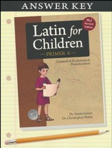 Latin For Children, Primer A Answer Key
