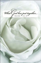 White Rose Bloom Wedding Bulletins (Package of 50)
