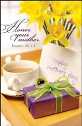 Breakfast Tray Mother's Day Bulletins (Package of 50)