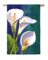 Easter Lily and Cross Flag, Large