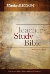 KJV Standard Lesson Teacher's Study Bible - hardcover