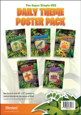 VBS 2014 Jungle Safari: Where Kids Explore the Nature of God! Daily Theme Poster Pack