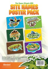 VBS 2014 Jungle Safari: Where Kids Explore the Nature of God! Site Names Poster Pack