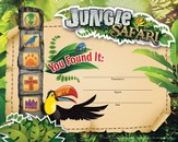 VBS 2014 Jungle Safari: Where Kids Explore the Nature of God! Recognition Certificates - pkg of 12