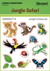 VBS 2014 Jungle Safari: Where Kids Explore the Nature of God! Jungle Creatures Stickers