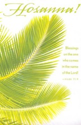 Hosanna Palm Sunday Bulletin 2015, Regular (Package of 50)