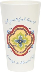 A Grateful Heart, Melamine Tumbler