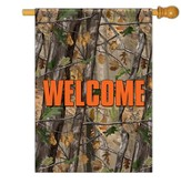 Welcome, Camouflage Flag, Large