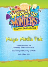 2014 VBS Workshop of Wonders: Imagine a Build with God - Mega Media Pak