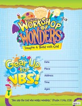 2014 VBS Workshop of Wonders: Imagine a Build with God - Small Promotional Poster