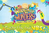 2014 VBS Workshop of Wonders: Imagine a Build with God - Invitation Postcards (package of 25)