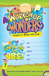 2014 VBS Workshop of Wonders: Imagine a Build with God - Large Promotional Poster