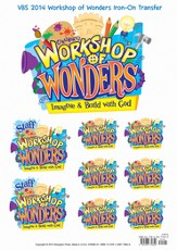 2014 VBS Workshop of Wonders: Imagine a Build with God - Iron On Transfer *
