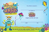 2014 VBS Workshop of Wonders: Imagine a Build with God - Student Certificate (package of 50)