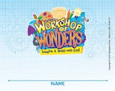 2014 VBS Workshop of Wonders: Imagine a Build with God - Nametag Card (package of 24)