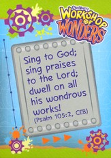 2014 VBS Workshop of Wonders: Imagine a Build with God - Scripture Treasures (package of 6 sets of 5)