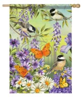 Chickadee Garden Flag, Large