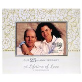 Our 25th Anniversary, A Lifetime of Love Photo Frame