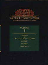 New Interpreter's Bible Volume 1: General Old Testament Articles, Genesis, Exodus, and Leviticus - Slightly Imperfect
