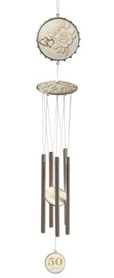 Anniversary Windchimes, A Lifetime of Love, 50 Years