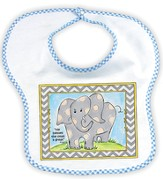 Elephant Gray Bib