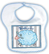Bundle of Joy Lamb Bib, Blue