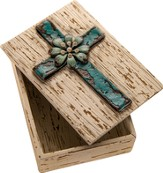 Ribbon Cross Box, Blue