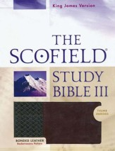KJV, The Scofield Study Bible III, Basketweave BK/BG,  Bonded Leather, Thumb-Indexed