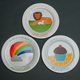 Gentleness, Faithfulness, Self-Control Plate Set, 3 Pieces