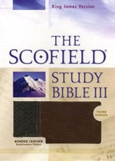 KJV, The Scofield Study Bible III, Basketweave BN/TN, Bonded  Leather, Thumb-Indexed