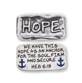 Scripture Pocket Reminder Token, Hope, Hebrews 6:19