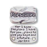 Scripture Pocket Reminder Token, Persevere, Jeremiah 29:11