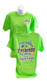Yes, I Am a Princess, Cherished Girl Style Shirt, Green, Large