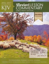 KJV Standard Lesson Commentary 2016-2017, Large-print softcover