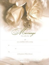 Roses, Embossed Marriage Certificates, 6