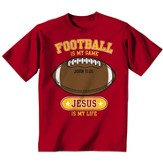 Football Is My Game Shirt, Red, Youth Small - Slightly Imperfect