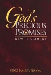 KJV God's Precious Promises New Testament, Burgundy Cover
