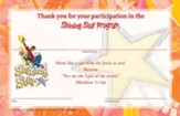 VBS 2015 Shining Star: See the Jesus in Me - Student Certificates (Pkg of 25)