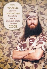 Duck Dynasty, Jase, Camo Birthday Cards, Pack of 6