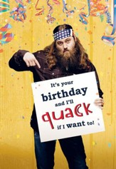 Duck Dynasty, Willie Sign Birthday Cards, Pack of 6