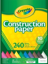 Crayola Construction Paper, 240 Sheets
