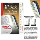 Bible Tabs; Horizontal Gold