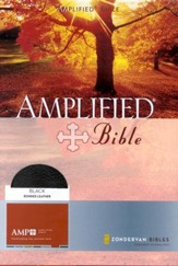 The Amplified Bible, Expanded Edition, Bonded leather, black  - Slightly Imperfect
