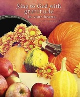 Sing to God Thanksgiving Bulletin 2015, Large (Package of 50)