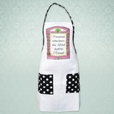 A Woman Who Loves the Lord Shall Be Praised, Apron