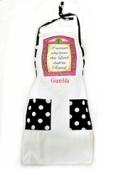 Personalized, A Woman Who Loves the Lord Shall Be Praised, Apron
